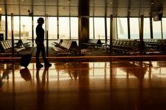 Пассажир в авиапорте Стоковые Изображения RF