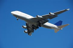 пассажир громоздк двигателя 747 Боинг Стоковое Изображение RF
