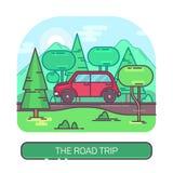 Пассажир или автомобиль путешествуя на дороге Стоковое фото RF