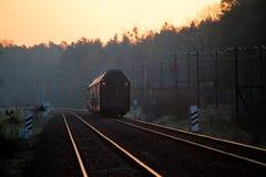 пассажир пущи проходя поезд Стоковая Фотография