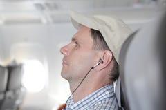 пассажир самолета Стоковое Изображение