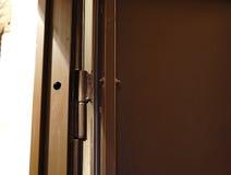 Пассивный болт внутри конца-вверх двери Стоковые Фотографии RF