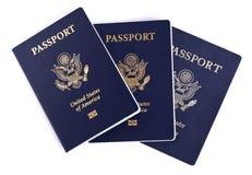 Изолированные американские пасспорты Стоковое Изображение