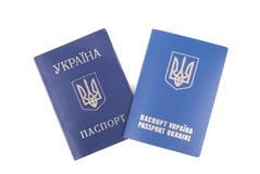 2 пасспорта. Стоковые Изображения RF