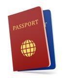 2 пасспорта isolaed на белизне Стоковые Изображения