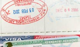Пасспорты, виза стоковое фото rf