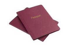 Пасспорты на белизне Стоковое Фото