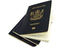 Пасспорты Новой Зеландии Стоковое фото RF