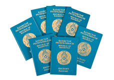 пасспорты kazakhstan Стоковая Фотография RF