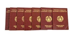 пасспорты tajikistan Стоковые Фотографии RF
