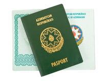 пасспорт Азербайджана Стоковые Изображения