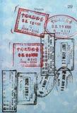 пасспорт Азии штемпелюет визу Стоковая Фотография