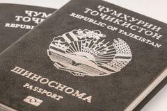 Пасспорт гражданина Республики Таджикистан в путешествовать за рубежом Стоковые Изображения