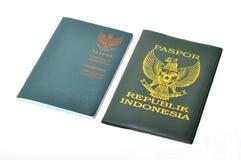 Пасспорт Индонезии Стоковое фото RF