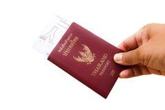 Пасспорт и билет стоковое изображение rf