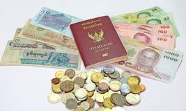 Пасспорт и деньги Стоковые Изображения RF