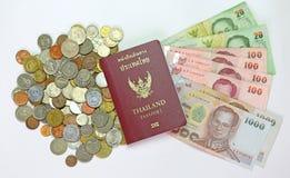 Пасспорт и деньги Стоковое фото RF
