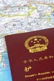 Пасспорт Китая Стоковое Фото