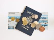 пасспорт, котор нужно переместить Стоковые Изображения RF