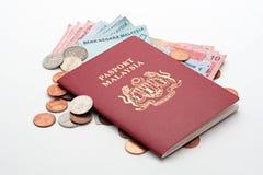 пасспорт наличных дег Стоковое фото RF