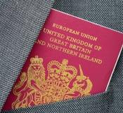 Пасспорт перемещения дела стоковое изображение