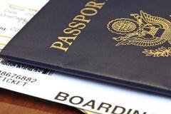 пасспорт пропуска восхождения на борт Проездные документы Стоковое Изображение