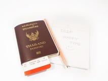 пасспорт пропуска восхождения на борт Стоковая Фотография