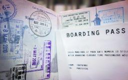 пасспорт пропуска восхождения на борт Стоковые Изображения