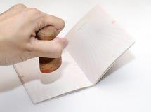 пасспорт страницы Стоковое Изображение RF