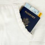 Пасспорт США и пропуска восхождения на борт Стоковые Изображения RF
