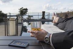 Пасспорт с вискиом Стоковая Фотография RF