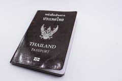 Пасспорт Таиланда на белой предпосылке Стоковое Изображение