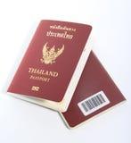 Пасспорт Таиланда на белой предпосылке Стоковые Фото
