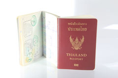Пасспорт Таиланда на белой предпосылке Стоковое Изображение RF
