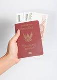 Пасспорт Таиланда на белой предпосылке Стоковые Изображения RF