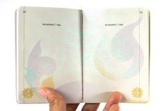 Пасспорт Таиланда внутрь Стоковые Изображения RF