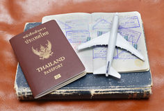 Пасспорт Таиланда Стоковые Изображения RF