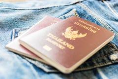 пасспорт тайский Стоковое Изображение