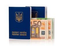 Пасспорт Украина Стоковые Фотографии RF