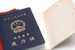 пасспорт фарфора стоковое фото