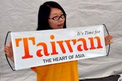 пасспорт taiwan nyc празднества к Стоковое Изображение RF