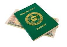 пасспорт turkmenistan дег Стоковое Изображение