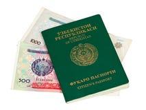 пасспорт uzbekistan дег Стоковое фото RF