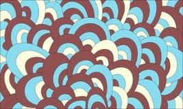 Пастельная абстрактная нарисованный вручную предпосылка волн Стоковая Фотография