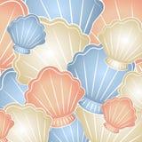 Пастельная предпосылка Seashells Стоковые Изображения
