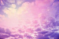 Пастельная текстура неба Стоковое Изображение RF