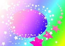 пастельное небо звёздное Стоковое Изображение