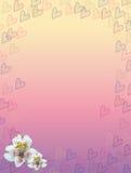 Пастельные сердца и рамка цветка Стоковое Изображение