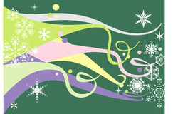 пастельные снежинки Стоковое Изображение