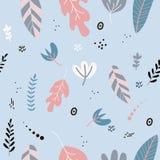 Пастельные цвета цветков и листьев весной Стоковые Изображения